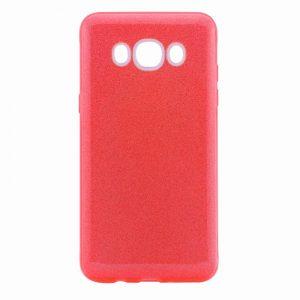Силиконовый (TPU+PC) чехол Shine с блестками для Samsung J710F Galaxy J7 2016 (Красный)