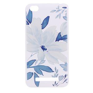 TPU чехол матовый soft touch для Xiaomi Redmi 4a Голубой цветок