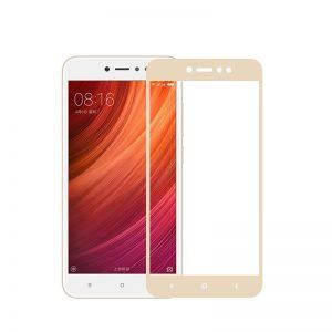 Цветное защитное стекло 2.5D на весь экран для Xiaomi Redmi Note 5A (Gold)