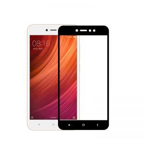 Цветное защитное стекло 2.5D на весь экран для Xiaomi Redmi Note 5A (Black)