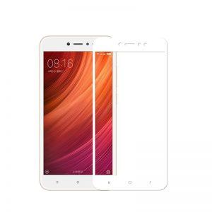 Цветное защитное стекло 2.5D на весь экран для Xiaomi Redmi Note 5A (White)