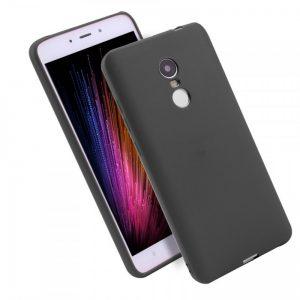 Матовый силиконовый TPU чехол для Xiaomi Redmi 5 Plus (Черный)
