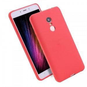 Матовый силиконовый TPU чехол для Xiaomi Redmi 5 Plus (Красный)