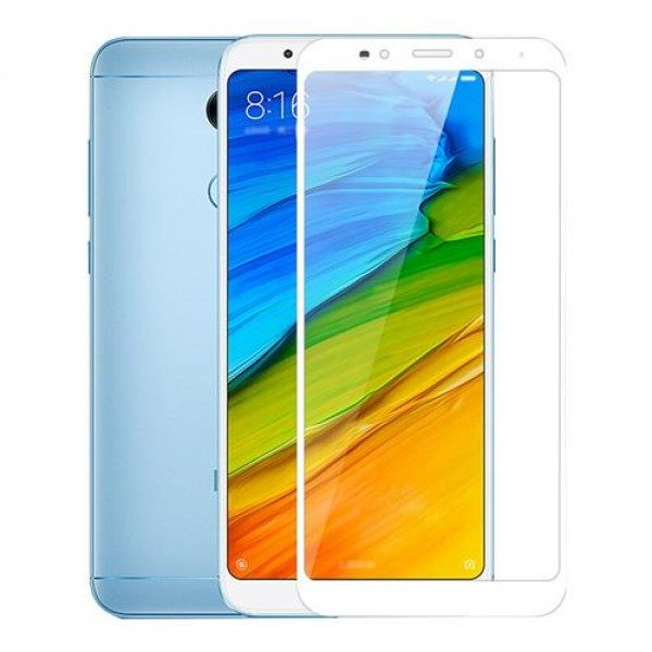 Защитное стекло 2.5D CP+ на весь экран (цветное) для Xiaomi Redmi 5 Plus (Белый)