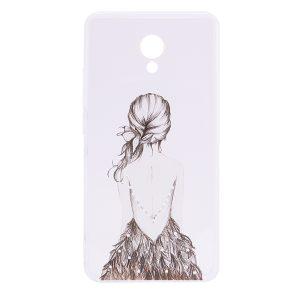 Прозрачный силиконовый чехол с рисунком Girl (dress back) для Meizu M5