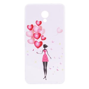 TPU чехол Cute Print для Meizu M5 Note (Girl balloon)