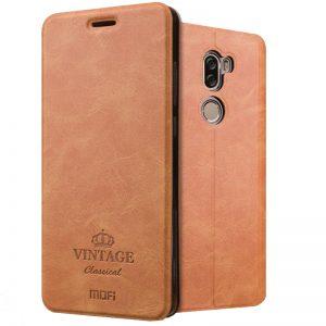 Кожаный чехол (книжка) MOFI Vintage Series для Xiaomi Mi 5s Plus (smart-wakeup) Коричневый