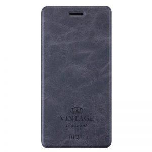 Кожаный чехол (книжка) MOFI Vintage Series для Xiaomi Mi 5s Plus (smart-wakeup) Темно-серый