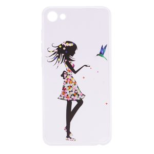 TPU чехол Cute Print для Meizu U10 (Girl (bird)