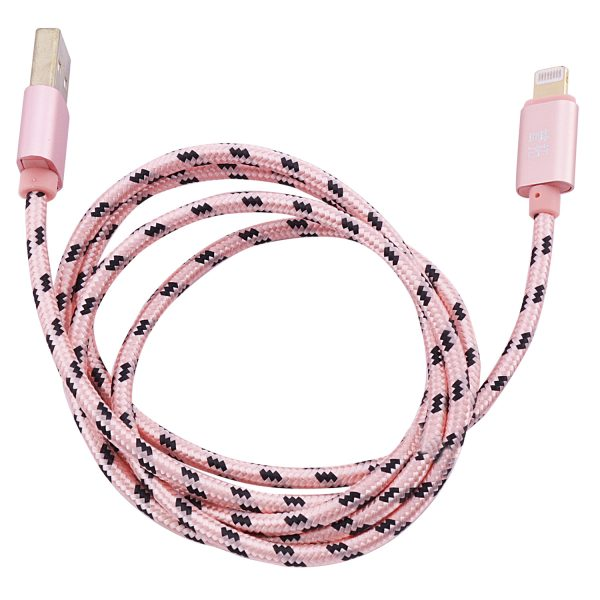 Дата кабель плетеный USB to Lightning (1m) Rose Gold