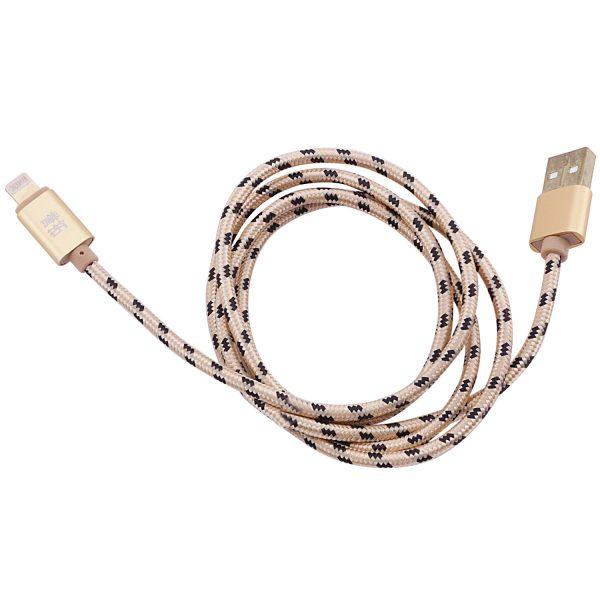 Дата кабель плетеный USB to Lightning (1m)  Gold