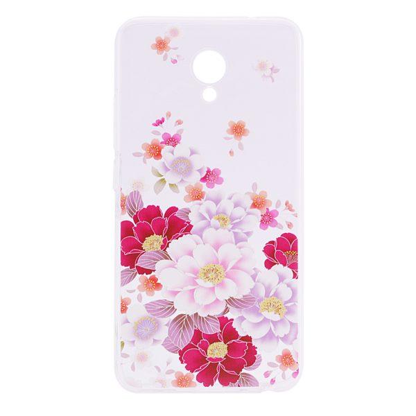 TPU чехол Cute Print для Meizu M5 (Flowers)