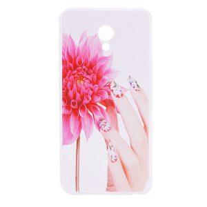 TPU чехол Cute Print для Meizu M5 (Flowers (fingers))