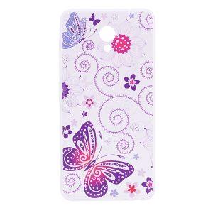 TPU чехол Cute Print для Meizu M5 (Flowers and Butterfly)