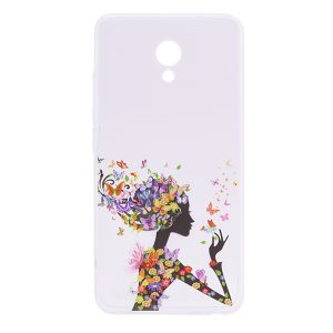 TPU чехол Cute Print для Meizu M5 (Girl (Butterfly colors))