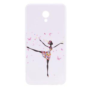 Прозрачный силиконовый чехол с рисунком Girl (Butterfly) для Meizu M5