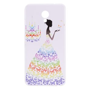 TPU чехол Cute Print для Meizu M5 Note (Girl (Butterfly dress)