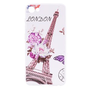 TPU чехол Cute Print для Meizu U10 (Eiffel Tower (Flowers)