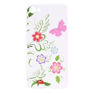 TPU чехол Cute Print для Meizu U10 (Flowers (Pink Butterfly)