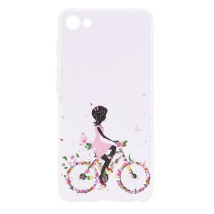 TPU чехол Cute Print для Meizu U10 (Girl (Bicycle butterfly)