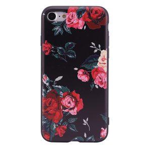 """TPU чехол OMEVE Pictures для Apple iPhone 6/6s plus (5.5"""") Красные розы (черный фон)"""