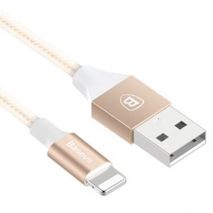 Дата кабель Baseus Yashine Lightning для Apple iPhone 5/5s/SE/6/6 Plus/6s/6s Plus /7/7Plus (1м) Золотой
