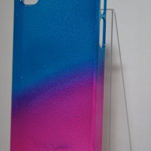 Защитный пластиковый чехол фиолетово-синий градиент для Iphone 4