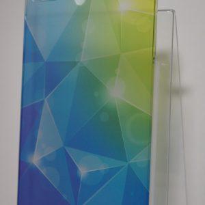 Защитный пластиковый  чехол с салатово-синим абстрактным градиентом для Iphone 4