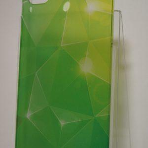 Защитный пластиковый  чехол с желто-салатовым абстрактным градиентом для Iphone 4