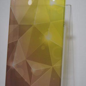 Защитный пластиковый чехол с желто-коричневым абстрактным градиентом для Iphone 4