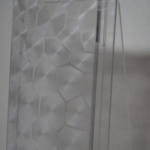 Пластиковая прозрачная белая накладка с фигурами для Iphone 5 / 5c / 5s /SE