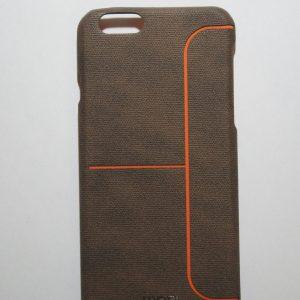 Пластиковая накладка бренда Mofi с полоской для Iphone 6 / 6s (Brown)