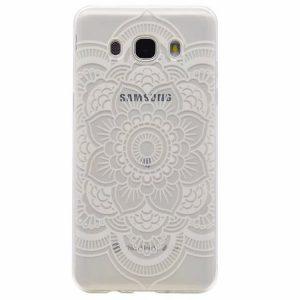 Прозрачный силиконовый чехол с рисунком цветов для Samsung Galaxy J5 2015 (J500)