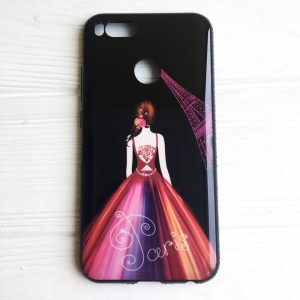 TPU чехол Magic Girl со стразами для Xiaomi Mi 5X / Mi A1 (Черный / Париж)