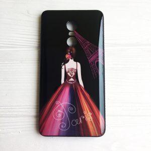 Чехол – накладка со стразами для Xiaomi Redmi Note 4X / Note 4 (Snapdragon) (Черный / Париж)