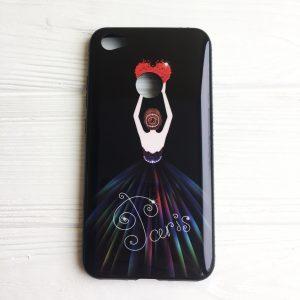 TPU чехол Magic Girl со стразами для Xiaomi Redmi Note 5A Prime / Redmi Y1 (Черный / Сердце)