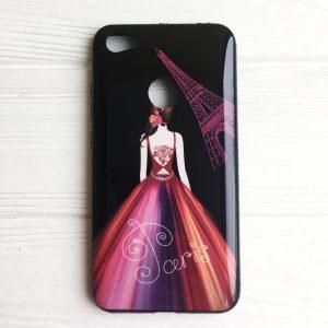 TPU чехол Magic Girl со стразами для Xiaomi Redmi Note 5A Prime / Redmi Y1 (Черный / Париж)