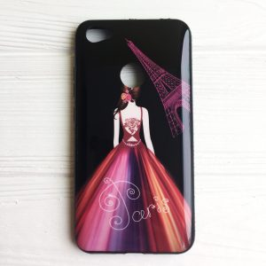 TPU чехол Magic Girl со стразами для Xiaomi Redmi Note 5A / Redmi Note 5A Prime (Черный / Париж)