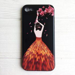 TPU чехол Magic Girl со стразами для Xiaomi Redmi Note 5A / Redmi Y1 Lite (Черный / Лепестки)