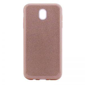 Силиконовый (TPU+PC) чехол Shine с блестками для Meizu M6 (Розовый)