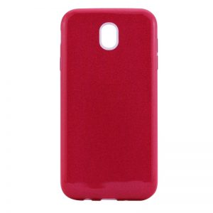 Красный силиконовый (TPU) чехол (накладка) c блестками Shine для Meizu M6 (Red)