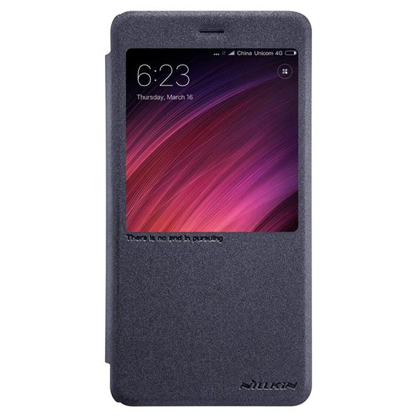 Кожаный чехол (книжка) Nillkin Sparkle Series для Xiaomi Redmi Note 4X (Black)