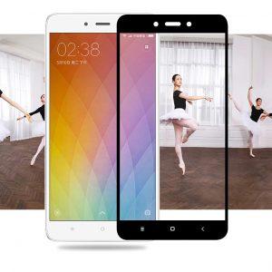 Цветное защитное стекло 2.5d full cover (на весь экран) для Xiaomi redmi note 4 (black)