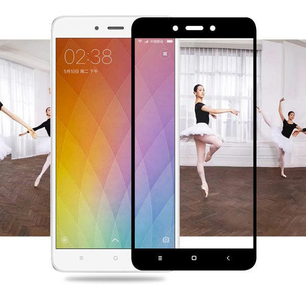 Защитное стекло 2.5D (3D) Full Cover на весь экран для Xiaomi Redmi Note 4 (Mediatek) — Black