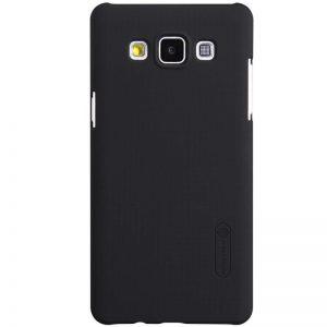 Пластиковый чехол Nillkin Matte для Samsung A500H / A500F Galaxy A5 + пленка (Черный)