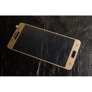 Защитное стекло 2.5D (3D) Full Cover на весь экран для Samsung Galaxy A3 2016 (A310) – Gold