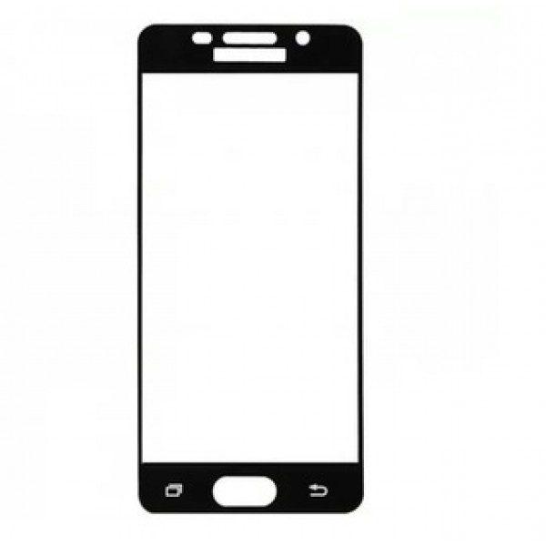 Защитное стекло 2.5D CP+ на весь экран (цветное) для Samsung A710F Galaxy A7 (2016) Black