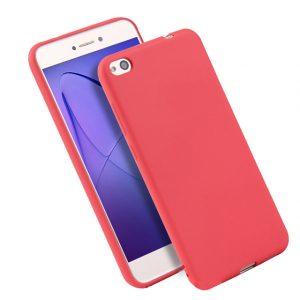 Матовый силиконовый TPU чехол для Xiaomi Redmi 5A / Redmi Go (Красный)