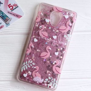 TPU чехол с переливающимися блестками для Meizu M5 Note (Фламинго)