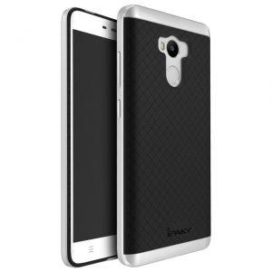 Фирменный чехол бампер iPaky TPU (силикон) + PC черно — серебряный для Xiaomi Redmi 4 Pro / 4 Prime